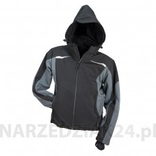 Kurtka softshell ocieplany  SF-1041 BLACK z kapturem